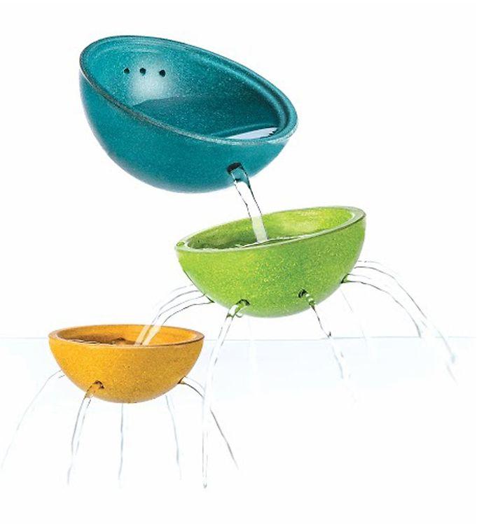 PlanToys Springvandsskåle - 3 stk - Petroleum/Lysegrøn/Gul - 13 - PlanToys,Plan Toys Badelegetøj,PlanToys Babylegetøj,PlanToys Badelegetøj,PlanToys Trælegetøj - PlanToys