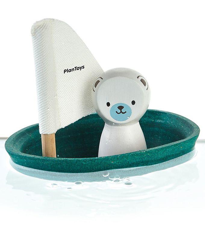 Billede af PlanToys Badelegetøj - Båd m. Isbjørn