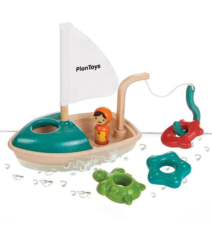 PlanToys Badelegetøj - Aktivitetsbåd - 13 - PlanToys,Adventsgaver til børn,Aktivitetslegetøj,Barselsgaver,Dåbsgaver,Plan Toys Badelegetøj,PlanToys Badelegetøj,PlanToys Trælegetøj - PlanToys