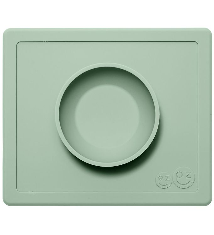 Billede af EzPz Happy Bowl - Silikone - Støvet Grøn