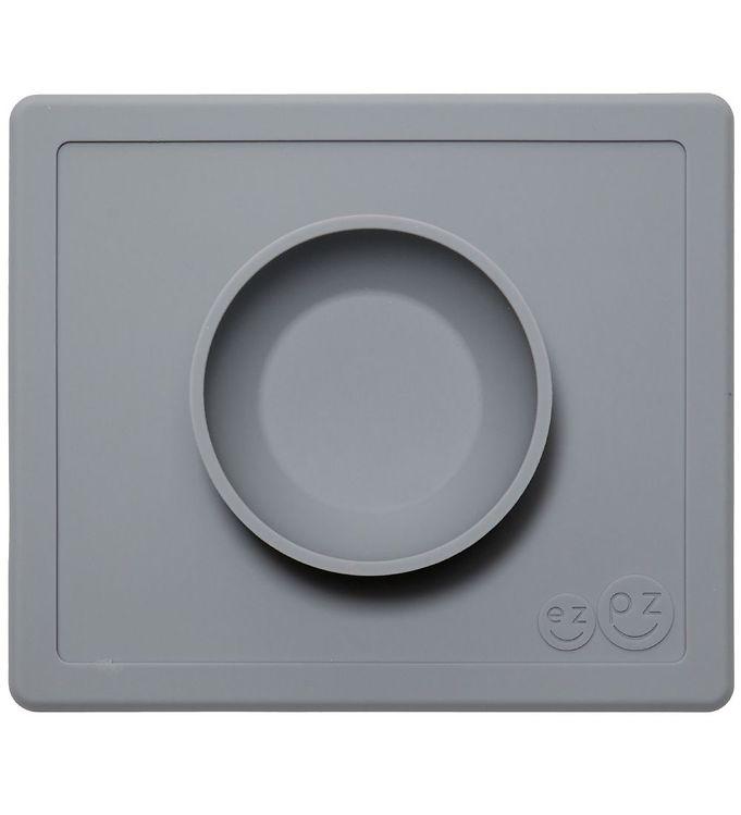 Billede af EzPz Happy Bowl - Silikone - Mørkegrå