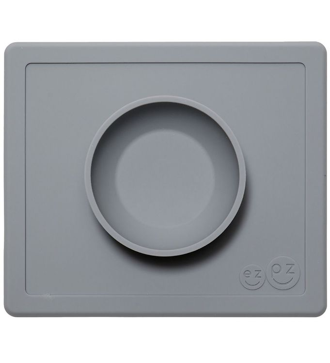 Image of EzPz Happy Bowl - Silikone - Mørkegrå (ØJ108)