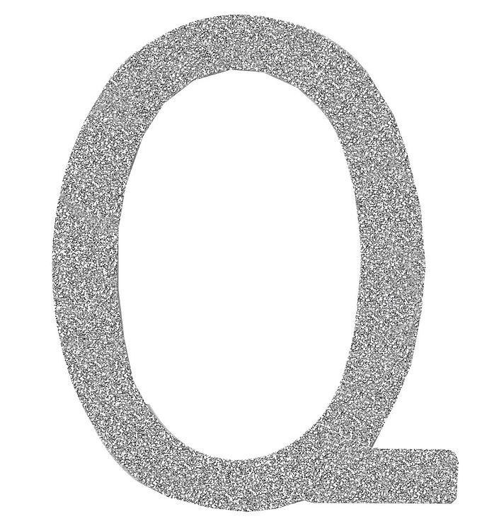 Image of Thats Mine Bogstav - Q - Sølv Glimmer (ØJ374)