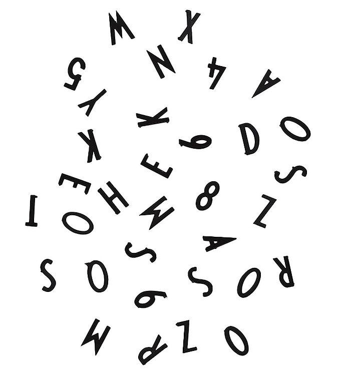 Billede af Design Letters Bogstaver - Sort