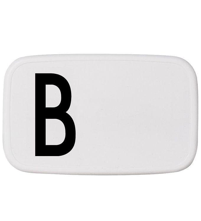 Image of Design Letters Madkasse - Hvid m. B (ØJ865)
