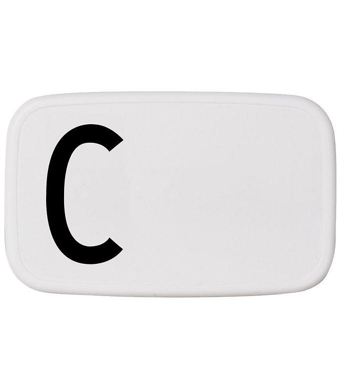 Image of Design Letters Madkasse - Hvid m. C (ØJ866)
