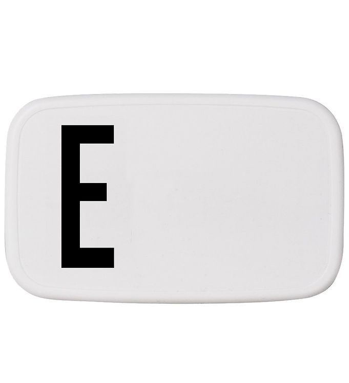 Image of Design Letters Madkasse - Hvid m. E (ØJ868)