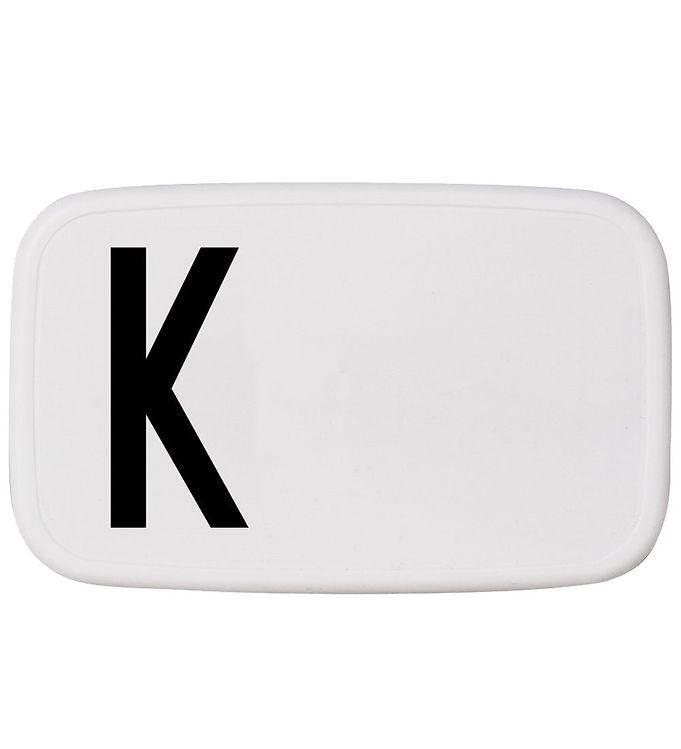 Image of Design Letters Madkasse - Hvid m. K (ØJ874)
