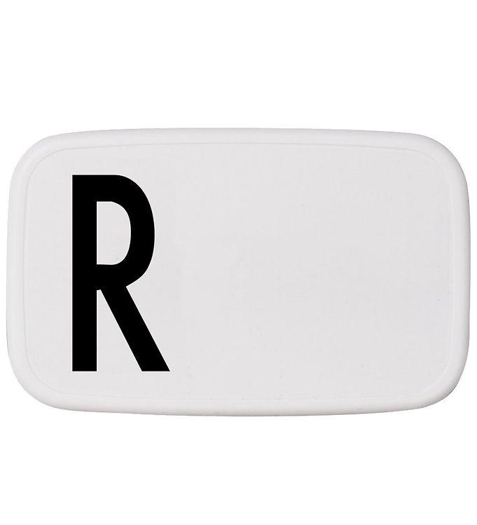 Image of Design Letters Madkasse - Hvid m. R (ØJ881)
