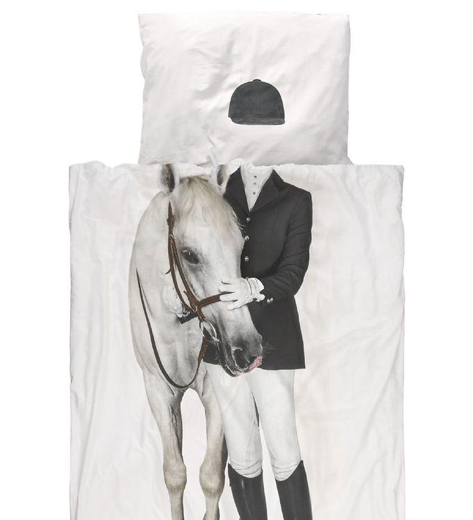 sengetøj med heste Snurk Sengetøj   Junior   Rytter m. Hest   Køb her med gratis  sengetøj med heste