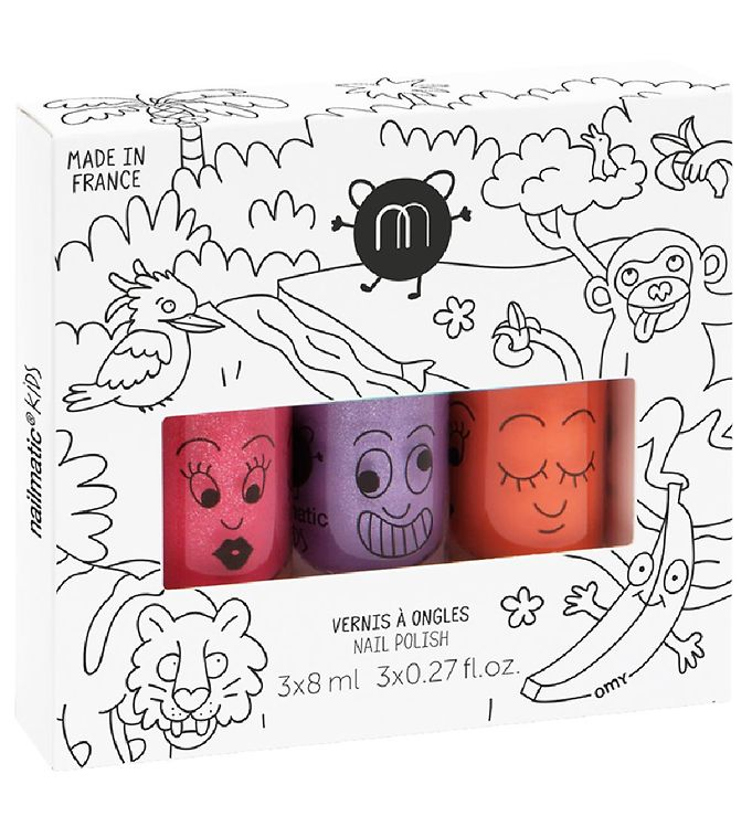 nailmatic Nailmatic neglelak - 3-pak - lilla glimmer/pink glimmer/orange på kids-world
