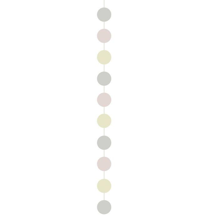 Image of   Fabelab Guirlande - 150 cm - Rosa/Creme Cirkler