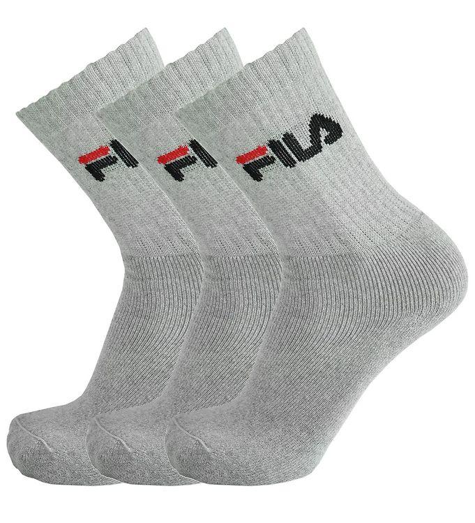 Image of   Fila Sportsstrømper - 3-pak - Gråmeleret