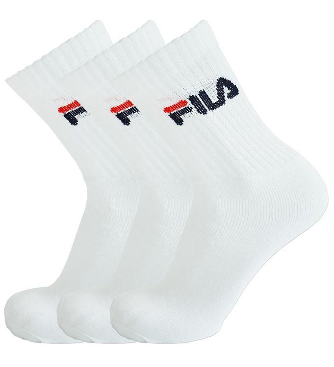 Image of   Fila Sportsstrømper - 3-pak - Hvid