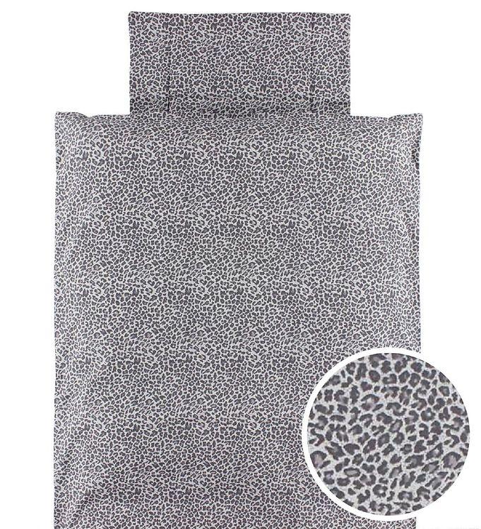 sengetøj voksen MarMar Sengetøj   Voksen   140x220   Grå Leopard   Køb online sengetøj voksen