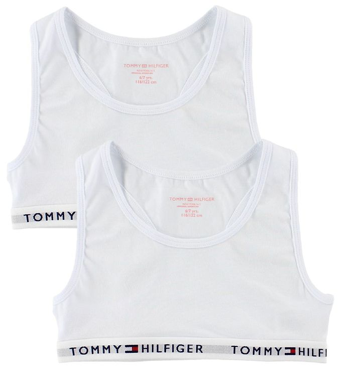 Tommy Hilfiger Toppe - 2-pak - Hvid