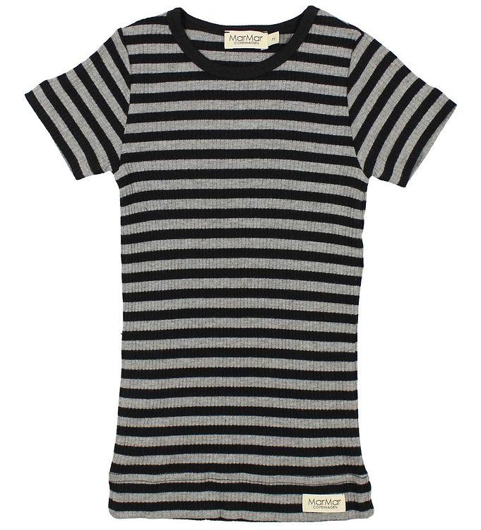 d1604792 MarMar T-shirt - Sort/Gråstribet - Køb her med gratis fragt og ...