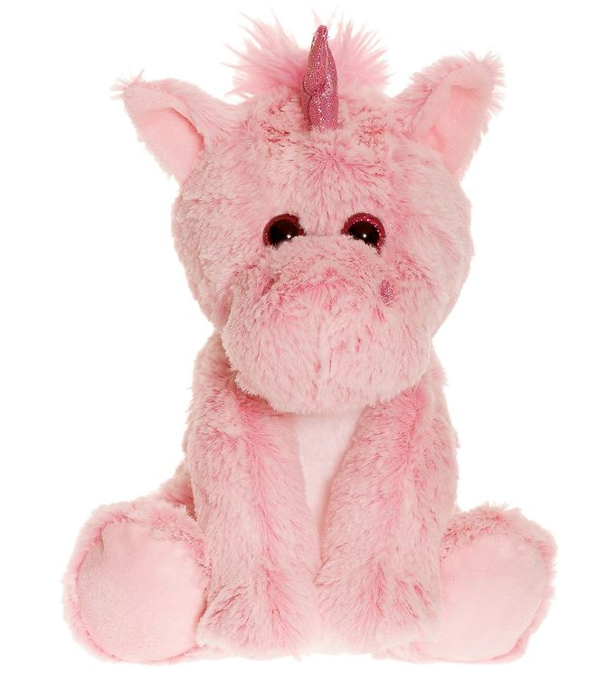 Teddykompaniet bamse - lille enhjørning - 20 cm - lyserød fra teddykompaniet på kids-world