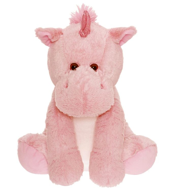 teddykompaniet Teddykompaniet bamse - stor enhjørning - 36 cm - lyserød på kids-world