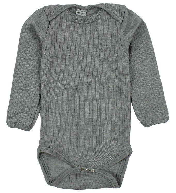 Image of Smallstuff Body l/æ - Uld - Gråmeleret (ØM263)