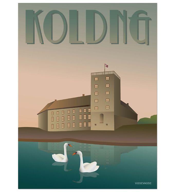 Image of Vissevasse Plakat - 30x40 - Kolding - Koldinghus (ØM273)