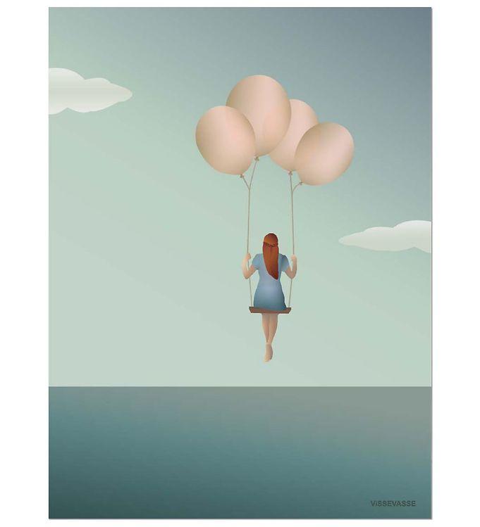Billede af Vissevasse Plakat - 30x40 - Balloon Dream