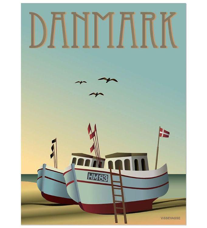 Billede af Vissevasse Plakat - 30x40 - Danmark - Fiskebådene