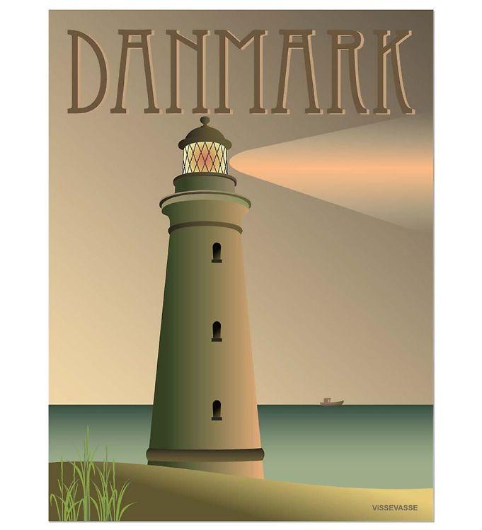 Billede af Vissevasse Plakat - 30x40 - Danmark - Fyret