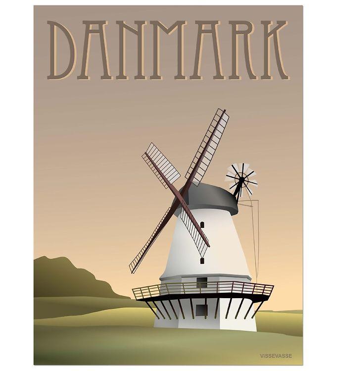 Image of Vissevasse Plakat - 30x40 - Danmark - Møllen (ØM283)