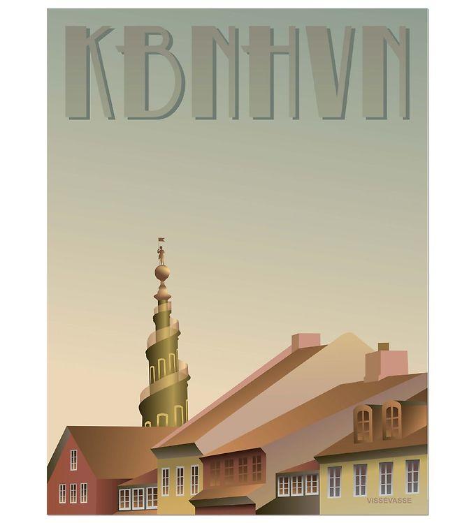 Image of Vissevasse Plakat - 30x40 - København - Christianshavn (ØM284)