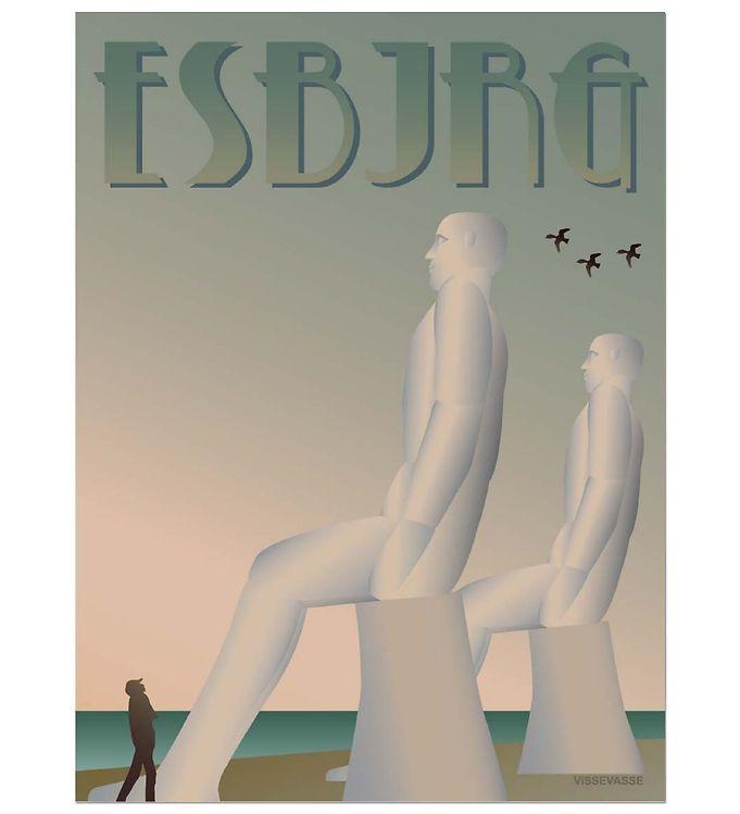 Billede af Vissevasse Plakat - 30x40 - Esbjerg - Mændene