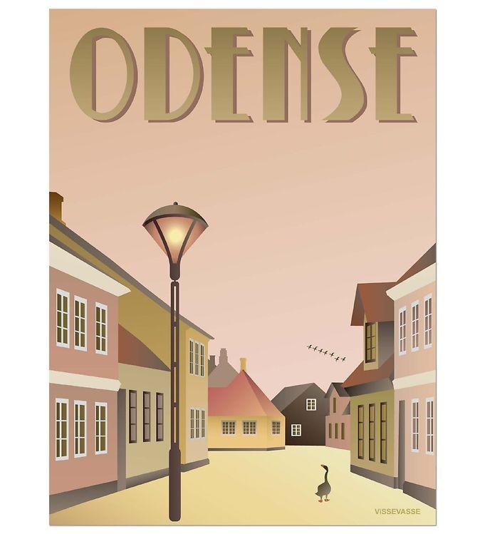 Image of Vissevasse Plakat - 30x40 - Odense - Ællingen (ØM290)
