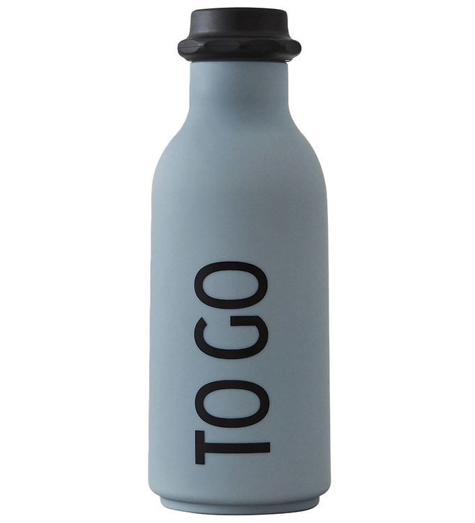 Image of Design Letters Drikkeflaske - 500 ml - Grå m. TO GO (ØM393)