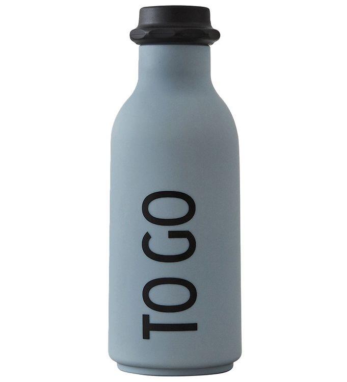 Billede af Design Letters Drikkeflaske - Grå m. TO GO