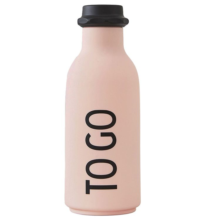 Image of Design Letters Drikkeflaske - 500 ml - Pink m. TO GO (ØM394)
