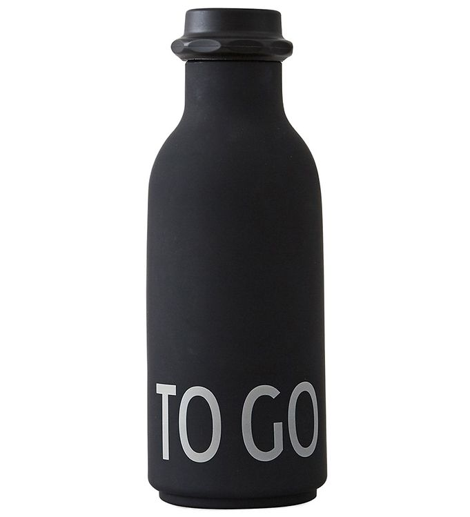 Image of Design Letters Drikkeflaske - 500 ml - Sort m. TO GO (ØM395)