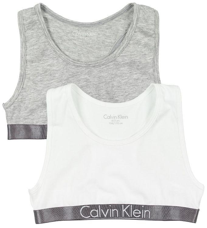 Calvin Klein Toppe - 2-pak - Gråmeleret/Hvid