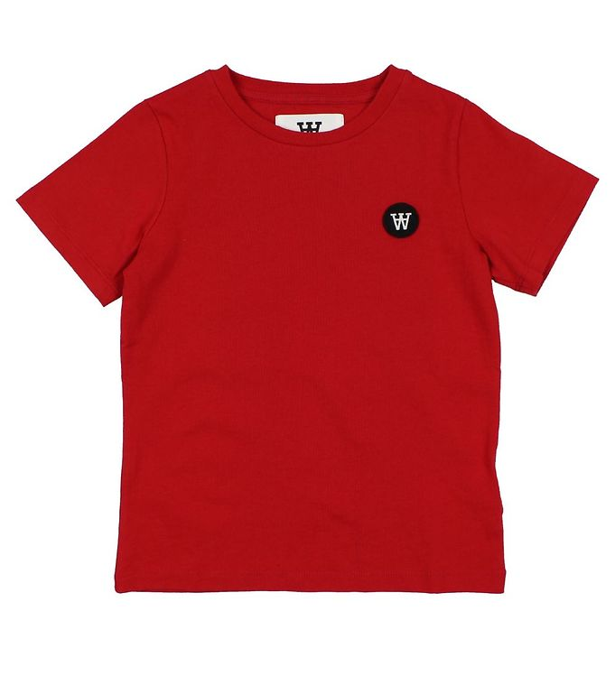 Image of Wood Wood Kids T-shirt - Rød (ØM573)
