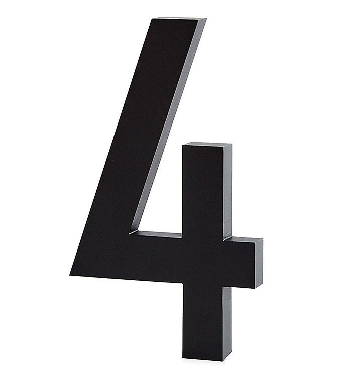 Image of Design Letters Alutal - 4 - Sort (ØN521)