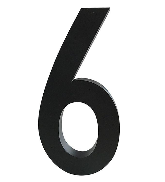 Image of Design Letters Alutal - 6 - Sort (ØN523)