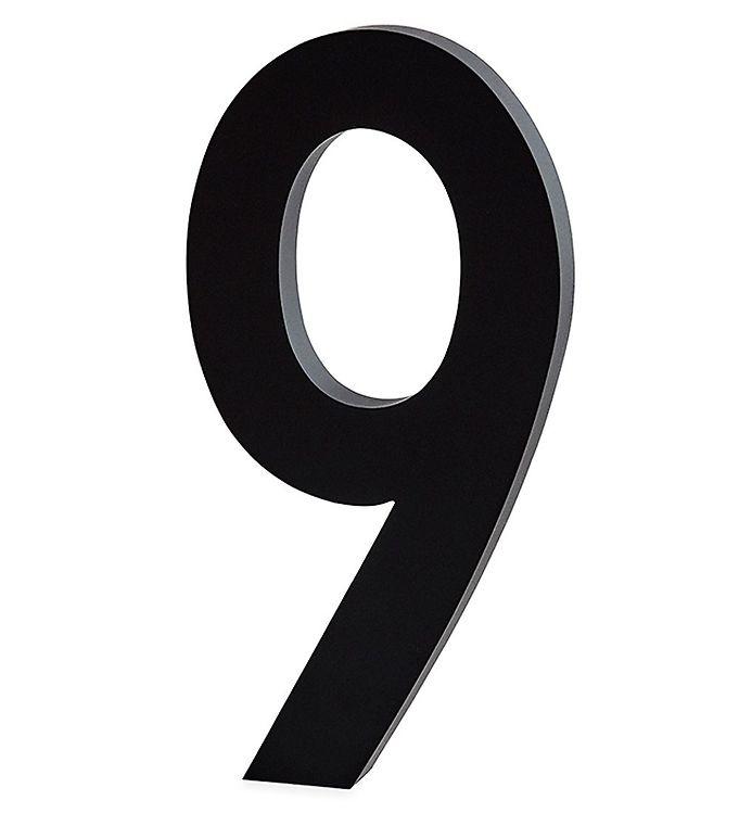 Image of Design Letters Alutal - 9 - Sort (ØN526)