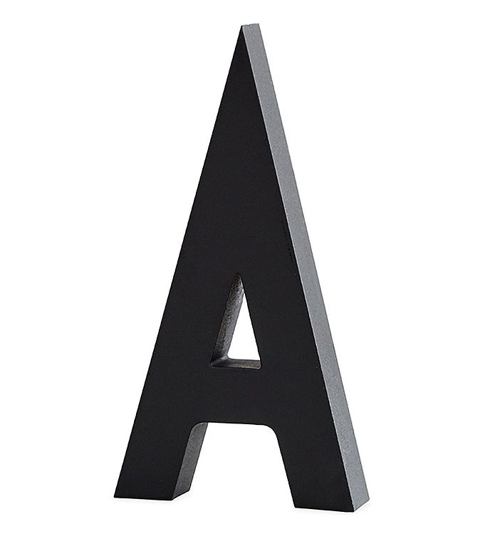 Image of Design Letters Alubogstav - A - Sort (ØN529)