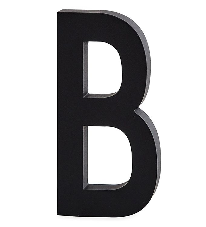 Image of Design Letters Alubogstav - B - Sort (ØN530)