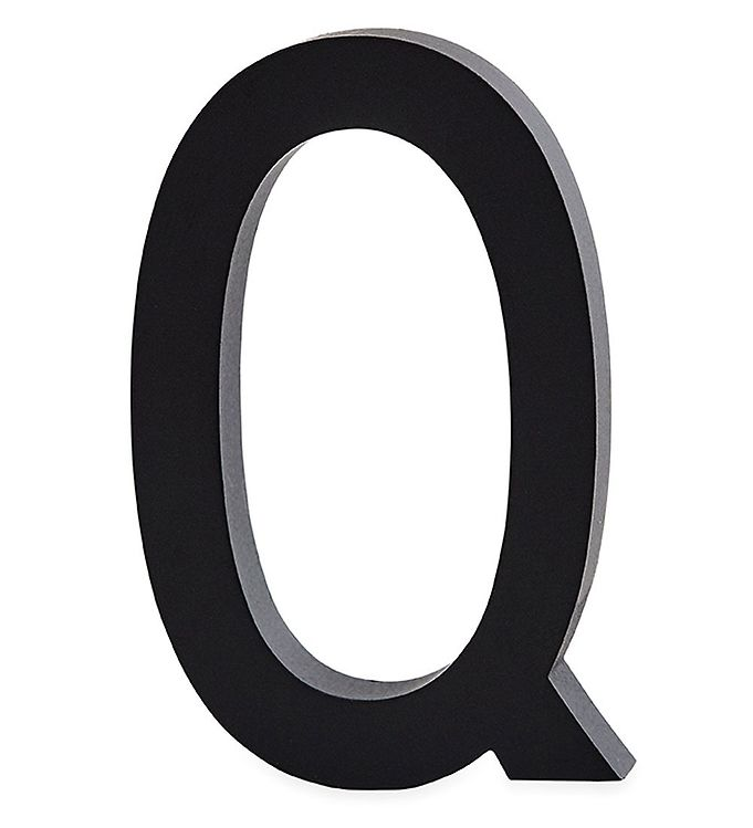 Image of Design Letters Alubogstav - Q - Sort (ØN545)