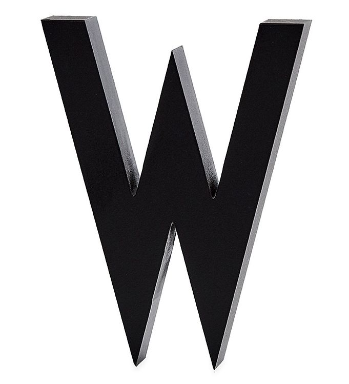 Image of Design Letters Alubogstav - W - Sort (ØN551)