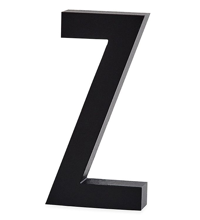 Image of Design Letters Alubogstav - Z - Sort (ØN554)