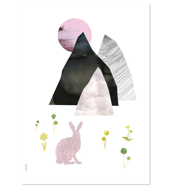 Image of I Love My Type Plakat - A3 - Mountain Life - Rabbit (ØN679)