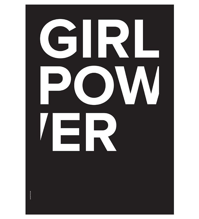 Image of I Love My Type Plakat - A3 - The Powerful Type - Girl Power (ØN682)