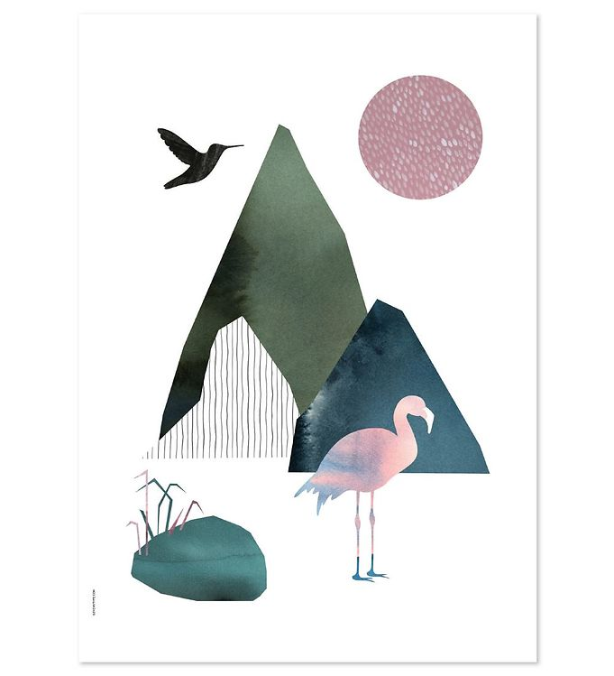 Image of I Love My Type Plakat - A3 - Mountain Life - Flamingo (ØN689)