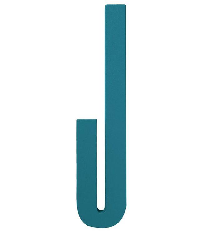 Image of Design Letters Træbogstaver - J - Turkis (ØN763)